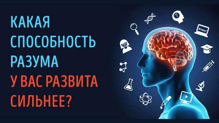 Тест: Какая умственная способность у Вас развита сильнее всего?