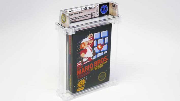 Картридж с игрой Super Mario продали на аукционе за 114 тысяч долларов