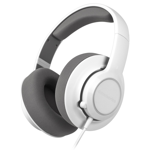 Игровые наушники Steelseries Siberia Raw White/Silver